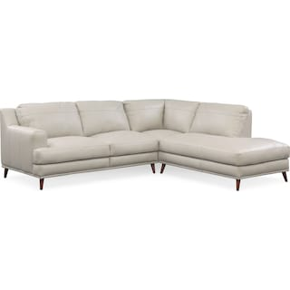 Highline 2-Piece Sectional with Right-Facing Chaise - Light Gray