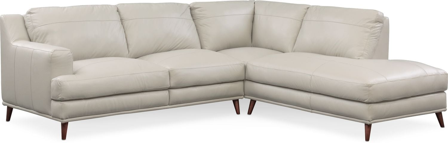 Living Room Furniture - Highline 2-Piece Sectional with Right-Facing Chaise - Light  sc 1 st  American Signature Furniture : american signature chaise - Sectionals, Sofas & Couches