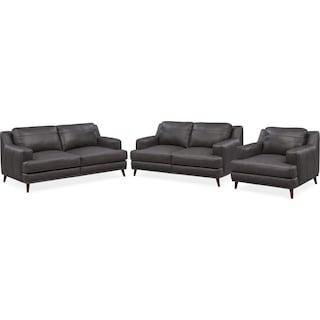 Highline Sofa, Loveseat and Chair Set - Dark Gray