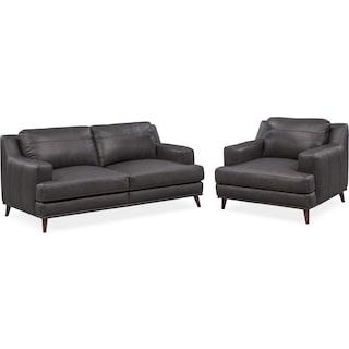 Highline Sofa and Chair Set - Slate