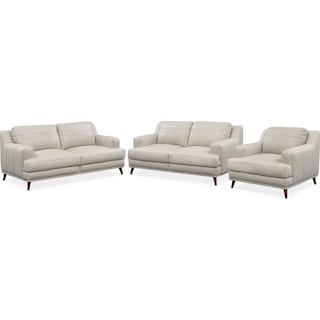 Highline Sofa, Loveseat and Chair Set - Gray