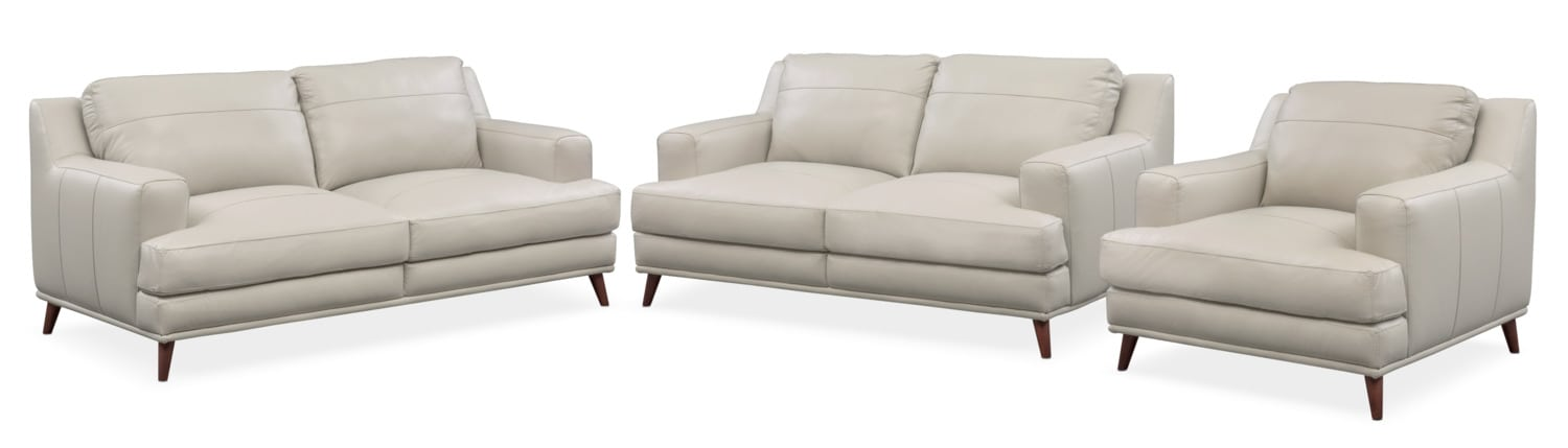 Highline Sofa, Loveseat And Chair Set   Light Gray