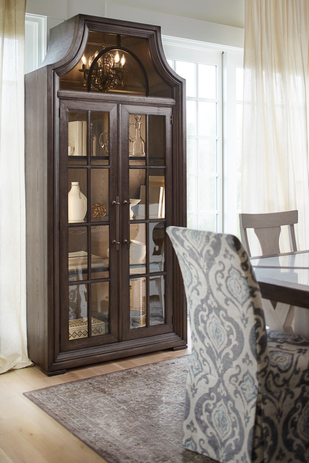 Lancaster Display Cabinet With Hutch Truffle American