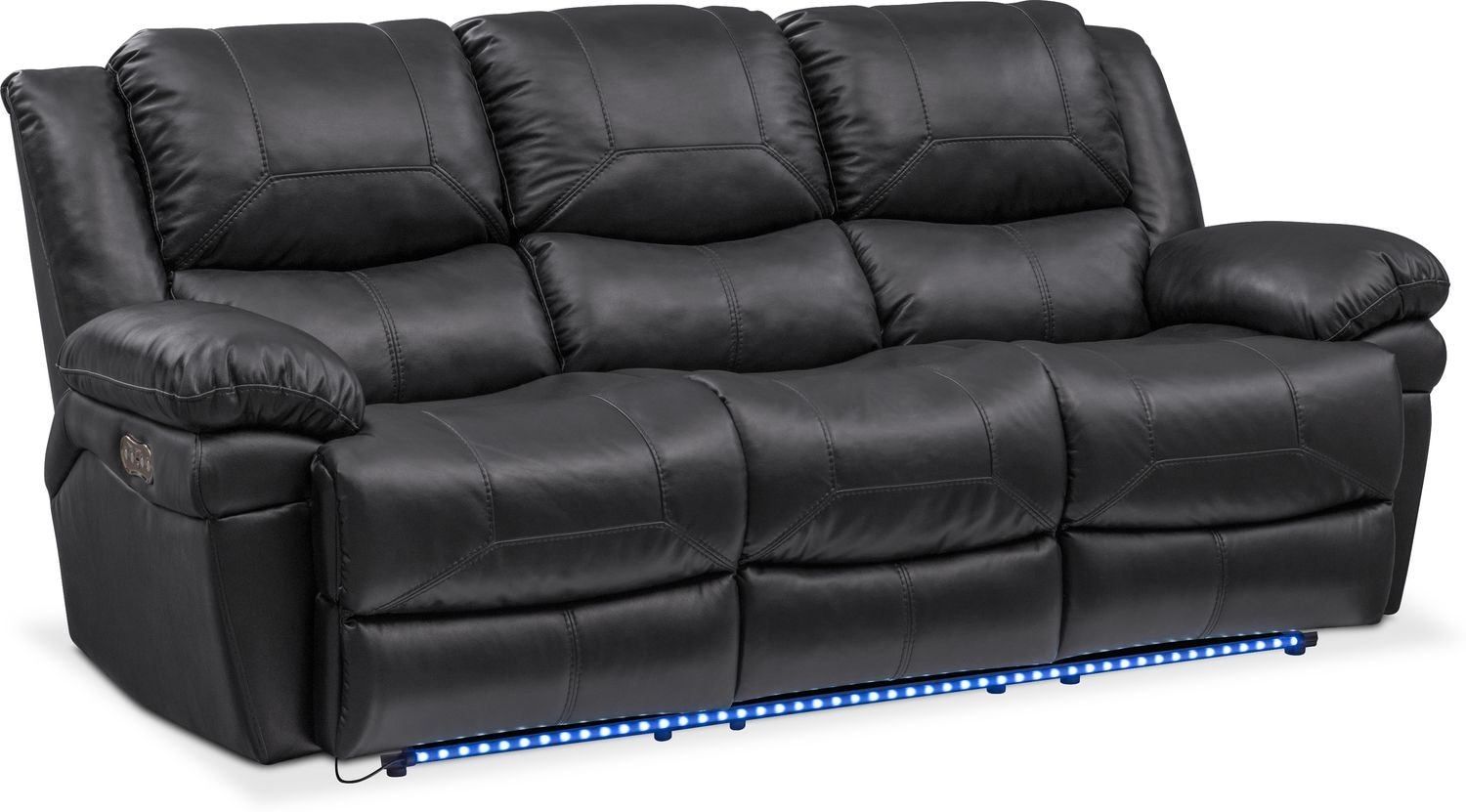 Monza Dual Power Reclining Sofa And Reclining Loveseat Set