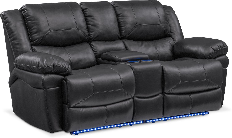 Monza Dual Power Reclining Sofa And Reclining Loveseat Set