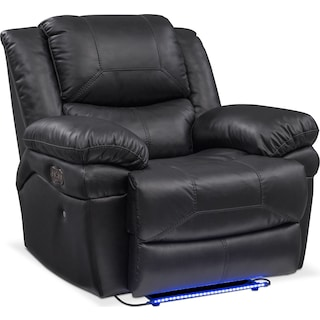 Monza Dual-Power Recliner - Black