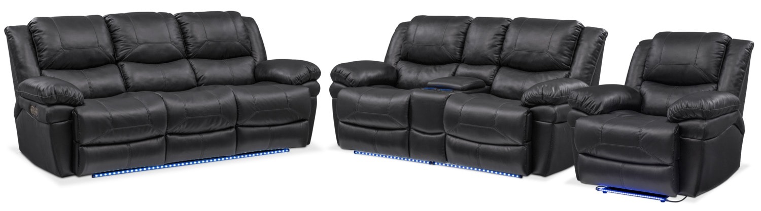 The Monza Collection - Black  sc 1 st  American Signature Furniture : one80 sectional - Sectionals, Sofas & Couches