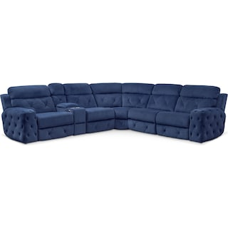 Macklin 4-Piece Dual Power Reclining Sectional with Left-Facing Loveseat