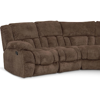 Turbo 6-Piece Reclining Sectional with Right-Facing Console