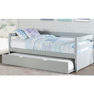 Hudson Twin Daybed with Trundle - Gray