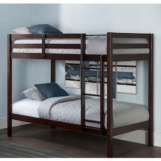 Hudson Twin Bunk Bed - Chocolate