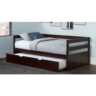 Hudson Twin Daybed with Twin Trundle - Chocolate