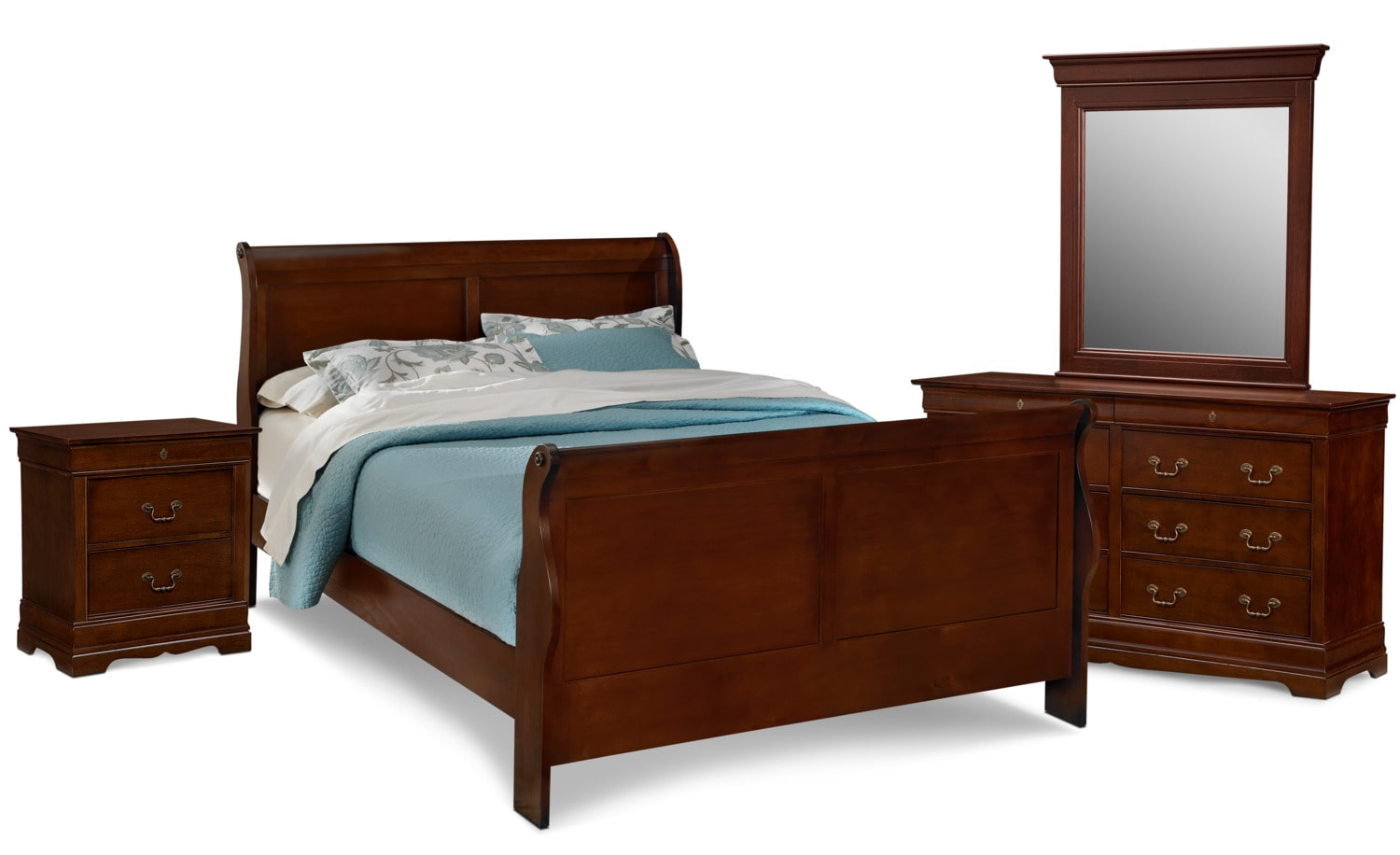 Awesome Neo Classic 6 Piece Queen Bedroom Set   Cherry