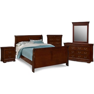 Neo Classic 7-Piece Bedroom Set with Chest, Nightstand, Dresser and Mirror