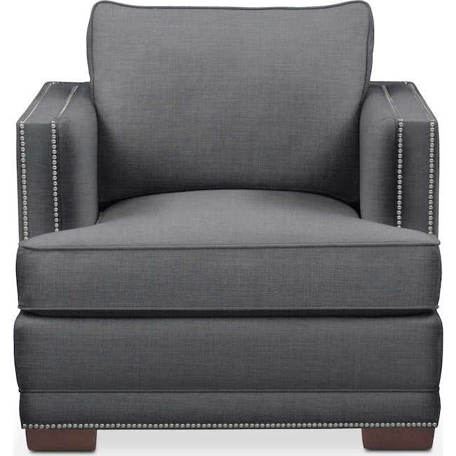 Living Room Furniture - Arden Chair- Comfort in Milford II Charcoal