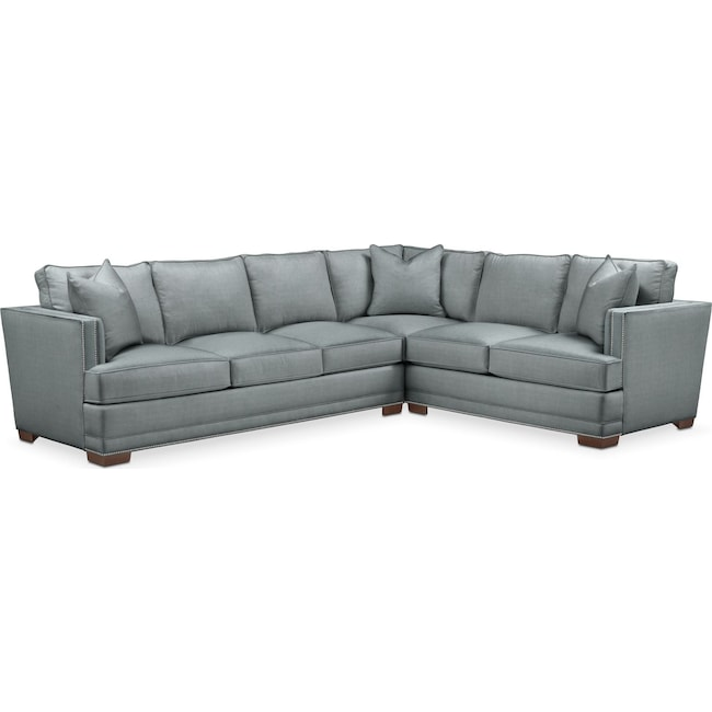 Living Room Furniture - Arden 2 Pc. Sectional with Left Arm Facing Sofa- Comfort in Abington TW Seven Seas