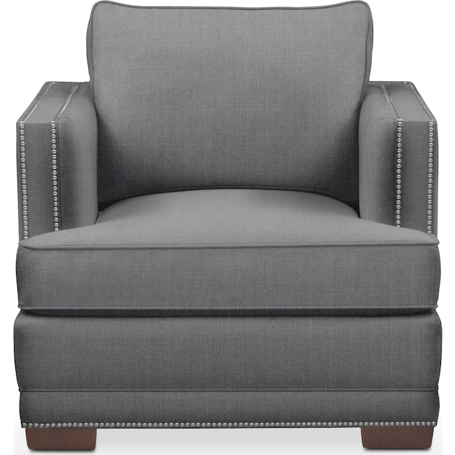 Living Room Furniture - Arden Chair- Comfort in Depalma Charcoal