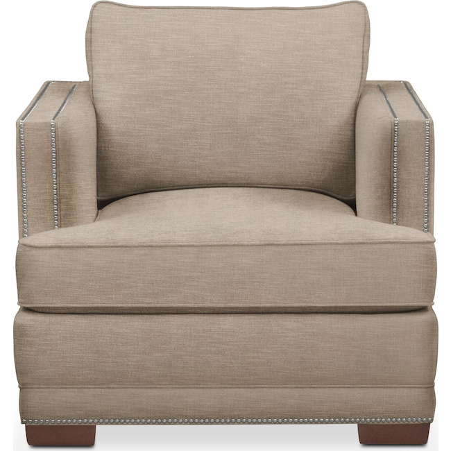 Living Room Furniture - Arden Chair- Comfort in Dudley Burlap