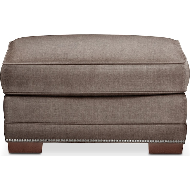 Living Room Furniture - Arden Ottoman- Comfort in Mocha