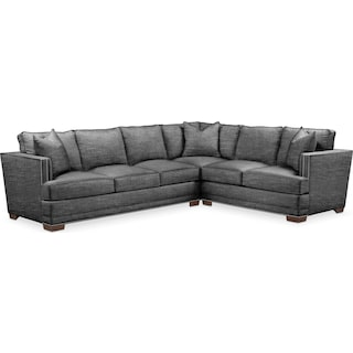 Arden Comfort 2 Piece Large Sectional with Left-Facing Sofa - Curious Charcoal