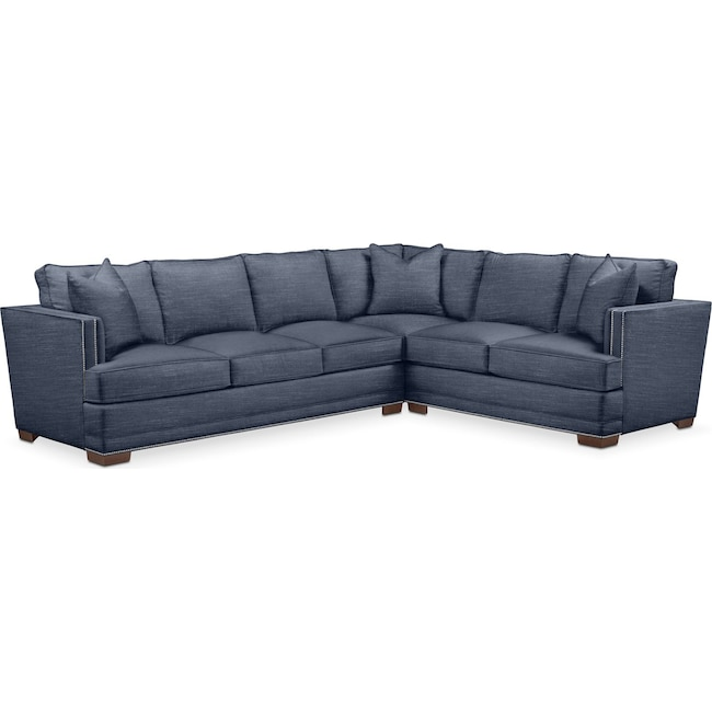 Living Room Furniture - Arden 2 Pc. Sectional with Left Arm Facing Sofa- Comfort in Curious Eclipse
