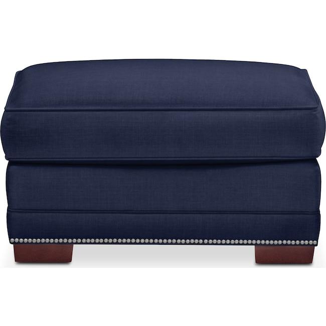 Living Room Furniture - Arden Ottoman- Comfort in Oakley III Ink