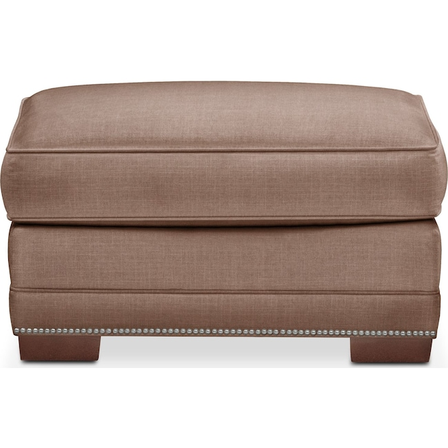 Accent and Occasional Furniture - Arden Ottoman- Comfort in Antler