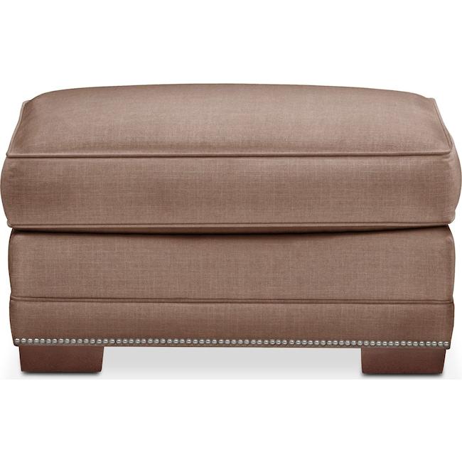 Living Room Furniture - Arden Ottoman- Comfort in Antler
