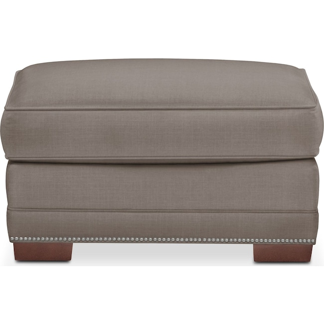 Living Room Furniture - Arden Ottoman- Comfort in Oakley III Granite