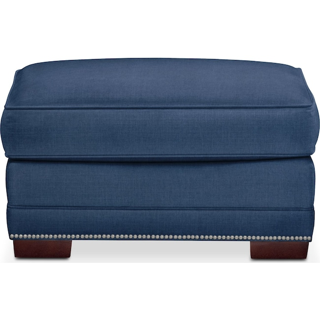 Accent and Occasional Furniture - Arden Ottoman- Comfort in Hugo Indigo