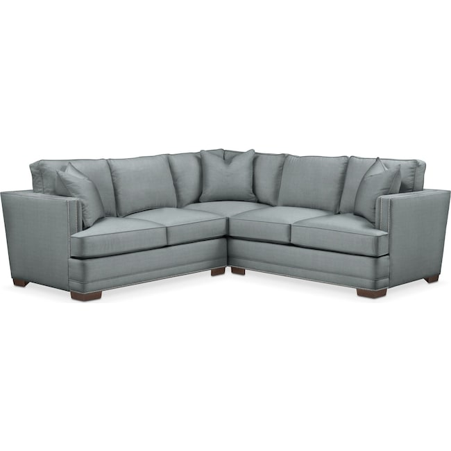 Living Room Furniture - Arden 2 Pc. Sectional with Left Arm Facing Loveseat- Comfort in Abington TW Seven Seas
