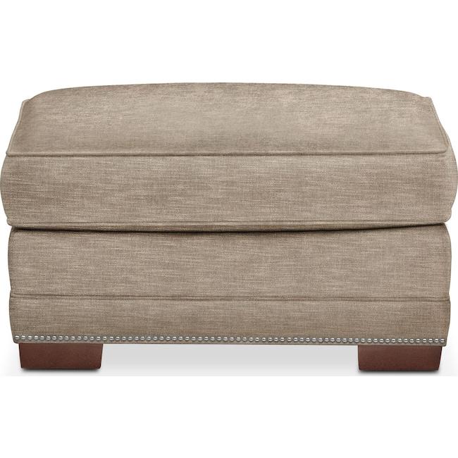 Living Room Furniture - Arden Ottoman- Comfort in Burlap