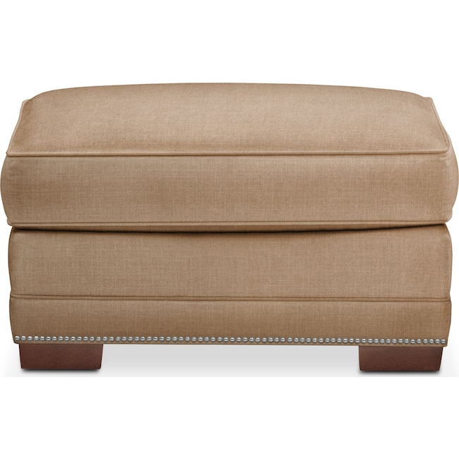 Living Room Furniture - Arden Ottoman- Comfort in Camel