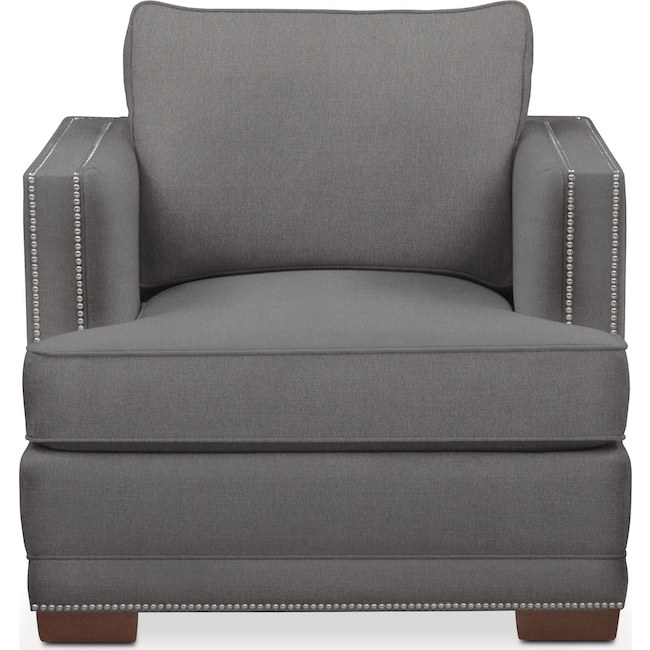 Living Room Furniture - Arden Chair- Comfort in Hugo Graphite
