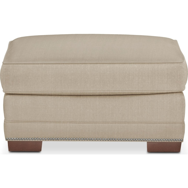 Living Room Furniture - Arden Ottoman- Comfort in Taupe