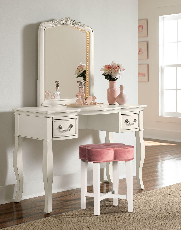 Quad Vanity Stool Pink American Signature Furniture