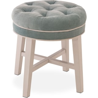 Emma Vanity Stool - Blue