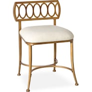 jefferson vanity stool gold