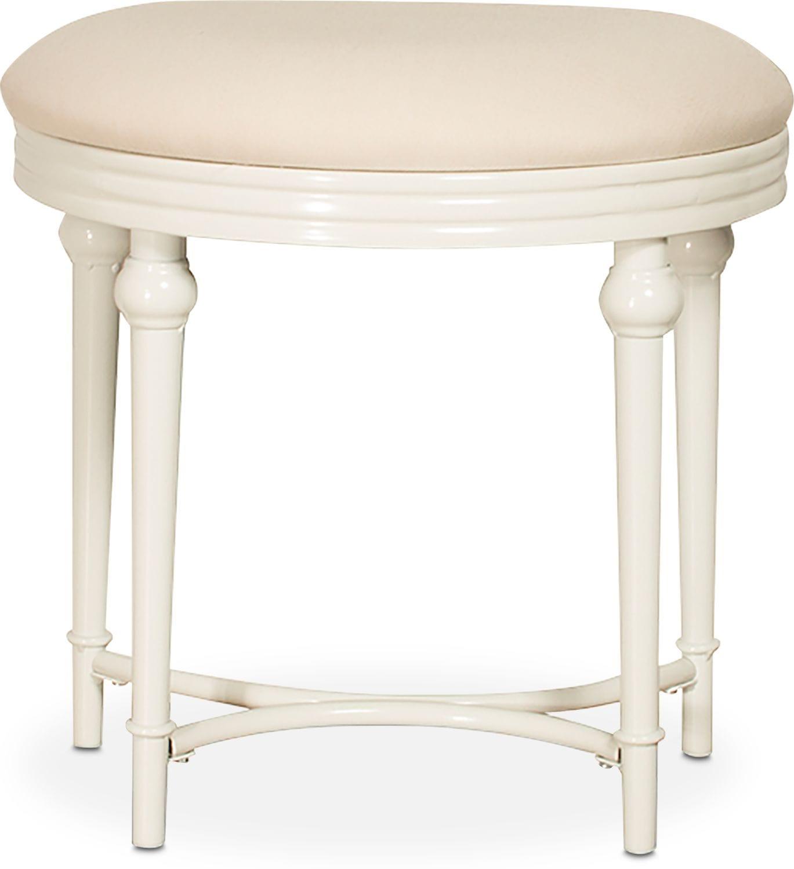 Kids Furniture - Jersey Vanity Stool - White