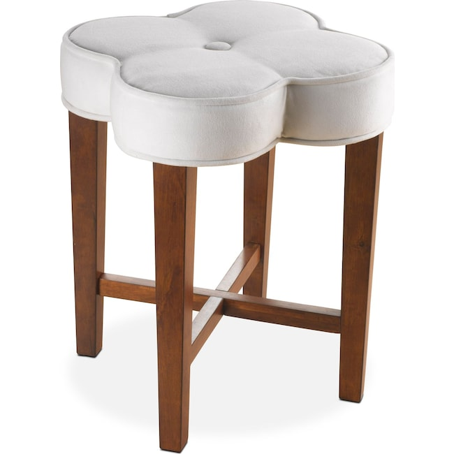 Kids Furniture - Quad Vanity Stool - White