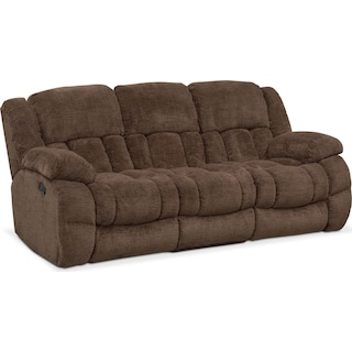 Turbo Manual Reclining Sofa - Chocolate