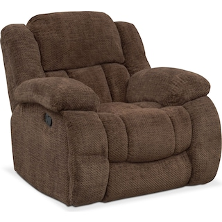 Turbo Manual Glider Recliner - Chocolate