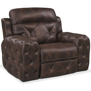 Macklin Power Recliner - Brown