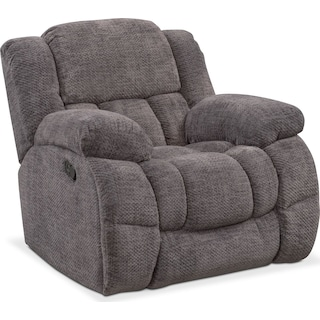 Turbo Manual Glider Recliner - Pewter
