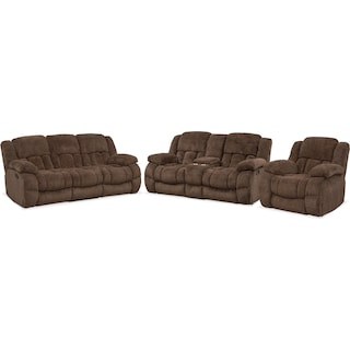 Turbo Manual Reclining Sofa, Loveseat and Glider Recliner