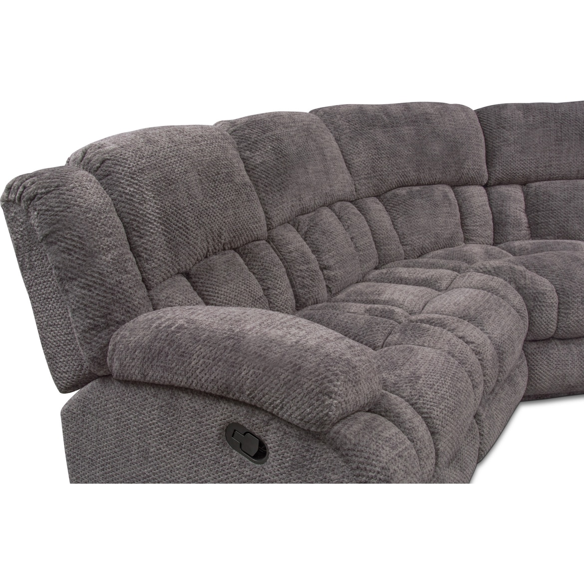 Turbo 5 Piece Manual Reclining Sectional With 3 Reclining