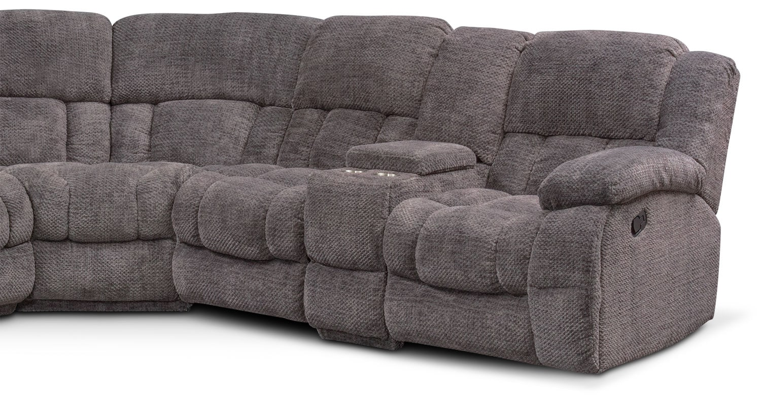 Turbo 6 Piece Reclining Sectional With Right Facing