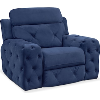 Macklin Power Recliner - Blue