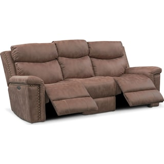 Montana Dual-Power Reclining Sofa - Taupe