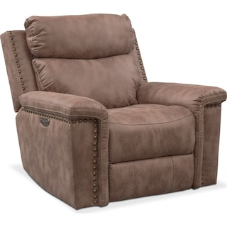 Montana Power Recliner - Taupe